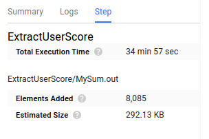 You can view the amount of time it takes a step in your pipeline to execute.
