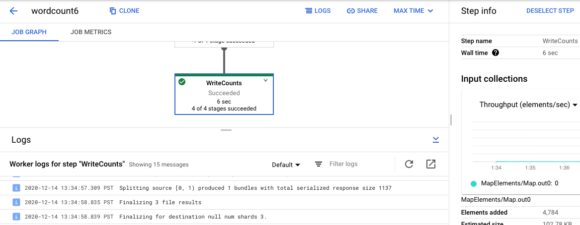 Logging pipeline messages | Cloud Dataflow | Google Cloud