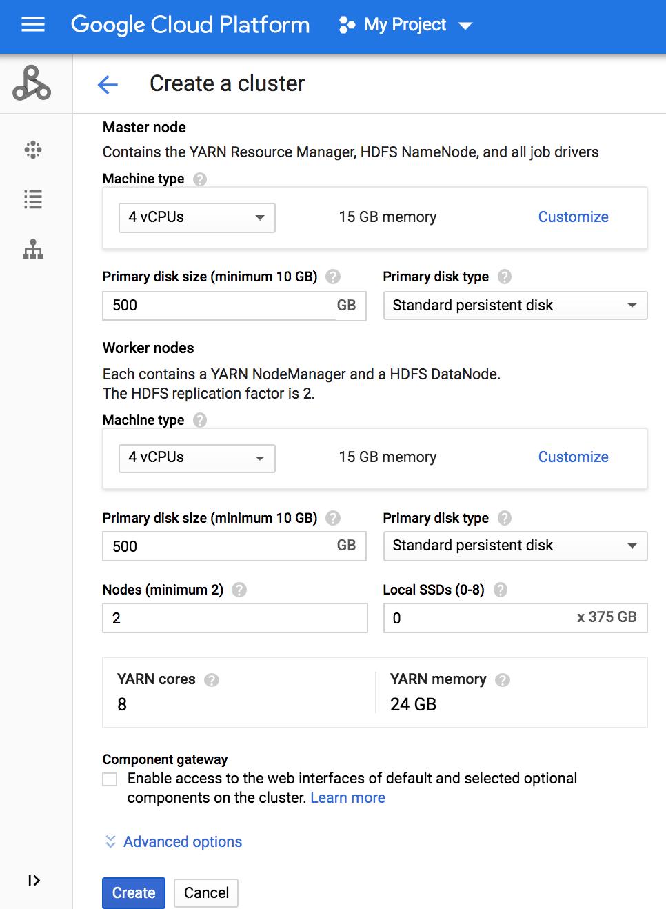 Install and run a Jupyter notebook on a Cloud Dataproc