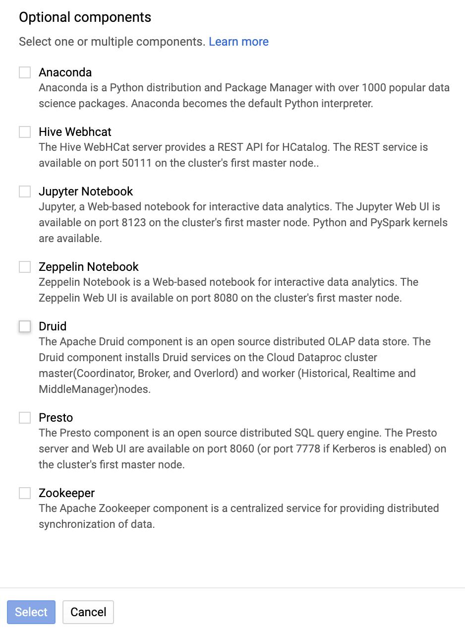 Cloud Dataproc Zeppelin Component | Cloud Dataproc
