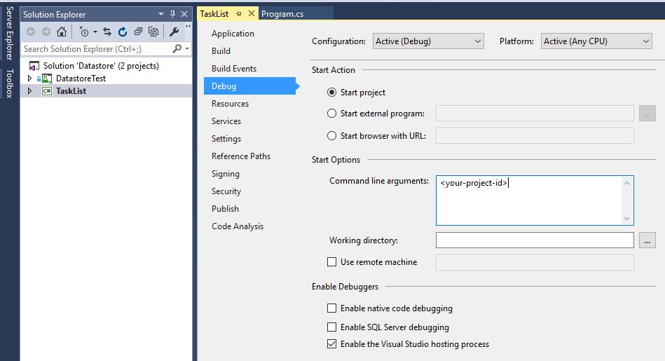 Janela de depuração do Visual Studio