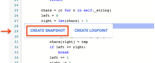Browse to a snapshot location.