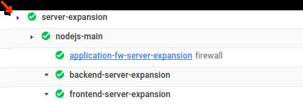Captura de pantalla de la expansión de una implementación