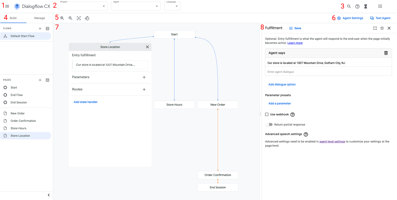 Captura de pantalla del compilador del agente