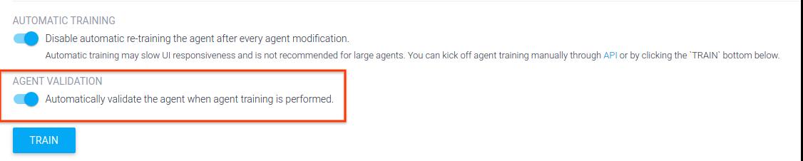 Captura de pantalla de la validación del agente