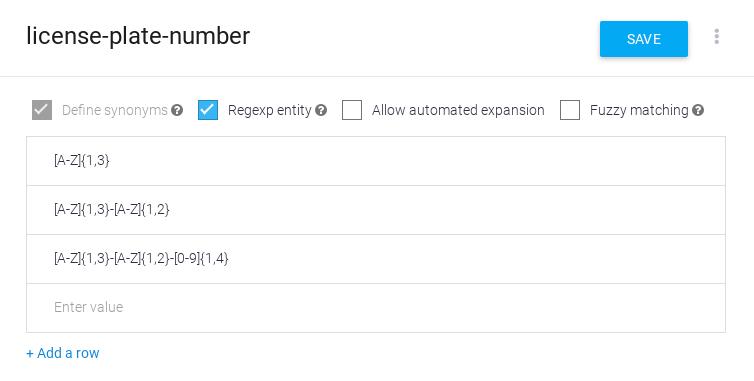 Screenshot der RegExp-Entität