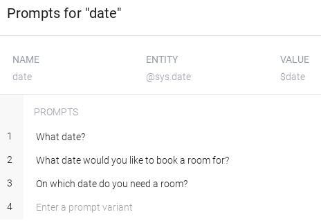 Captura de pantalla de mensajes de parámetros