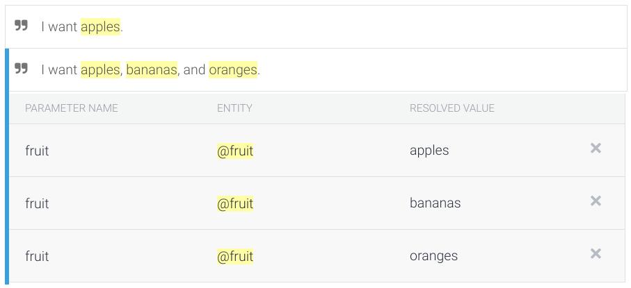 Screenshot of list parameter annotation.