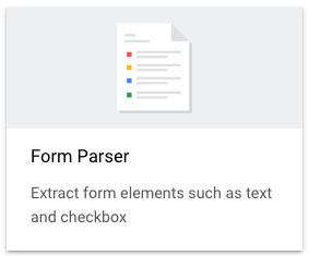Form parser option in UI