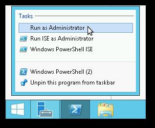 Open PowerShell as an Admin