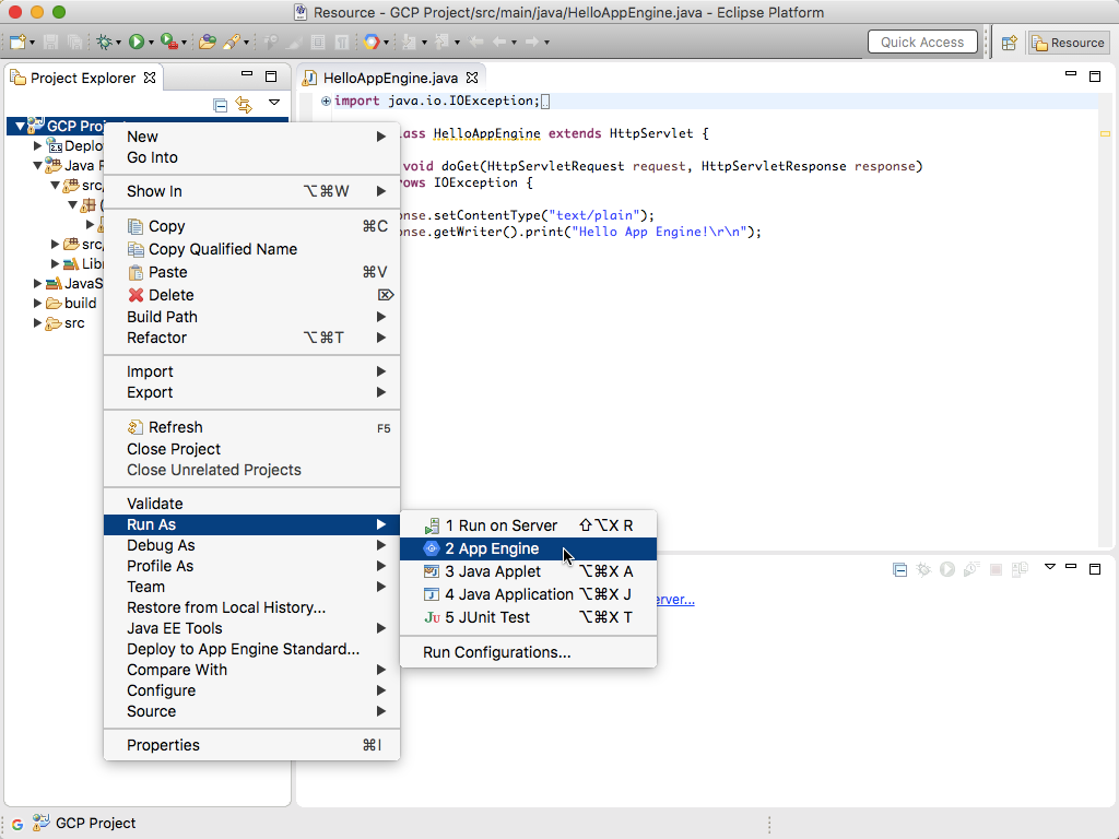 Running And Debugging An App Engine Standard Project Locally Inside Eclipse