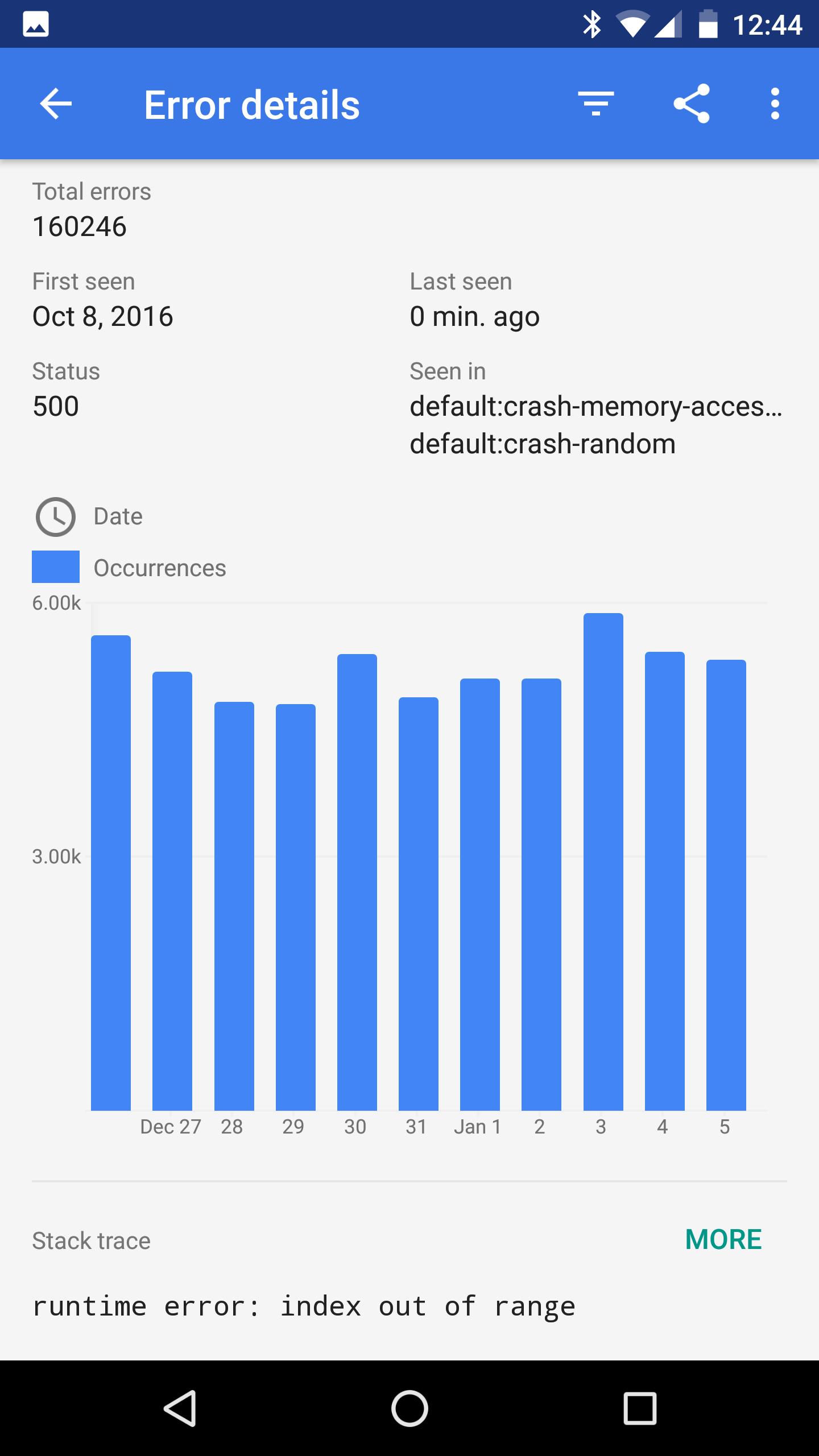 Detalhes do app para dispositivos móveis do Console do GCP.