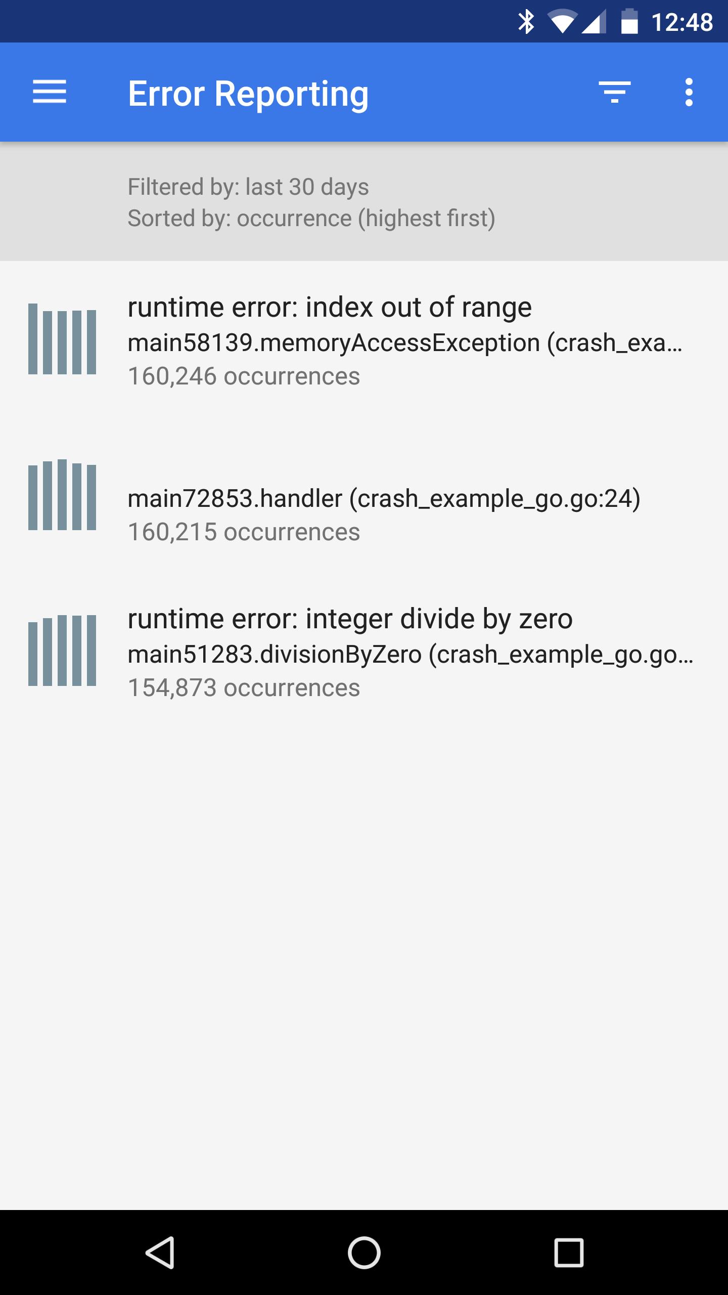 Illustration de l'application mobile de la console GCP.