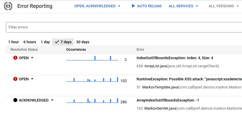 시간 범위 섹션을 표시하는 사용자 인터페이스