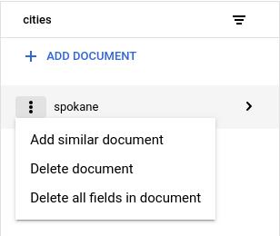 Cliquez sur Supprimer le document ou Supprimer les champs du document dans le menu contextuel de la colonne Détails du document.
