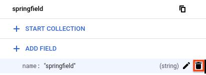 Auf das Löschsymbol zum Entfernen eines Felds aus einem Dokument klicken