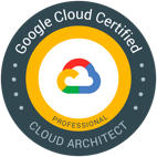 "Badge ""Google Cloud Architect-Zertifizierung"""