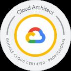Selo de certificação Google Cloud Architect