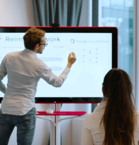 Group using a digital whiteboard
