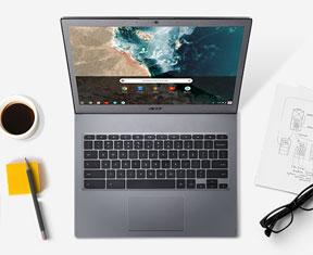 Chromebook in primo piano