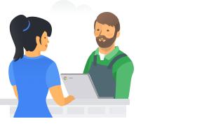Mitarbeiter mit Kundenkontakt