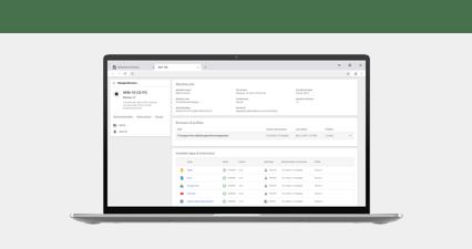 Navigateur Chrome sur un appareil Chrome