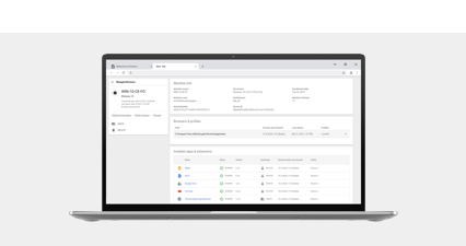 De Chrome-browser op een Chrome-apparaat