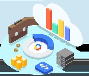 afbeelding van held met cloud voor start-ups