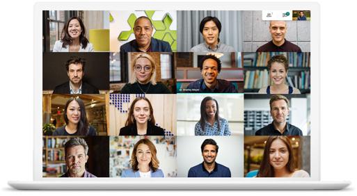 Google Meet 的付費視訊會議功能圖示