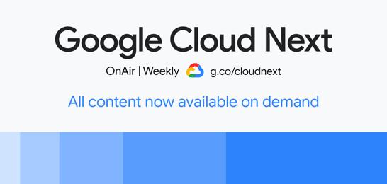 Bild: Google Cloud Next
