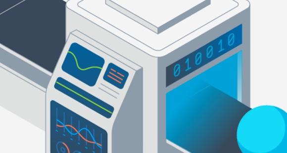 Abbildung eines Computers, der die Google Cloud zum Ausführen von Datenanalysen nutzt