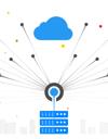Serveurs diffusant des signaux vers le cloud.