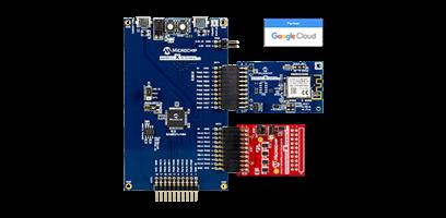 Foto do kit de desenvolvimento de segurança Microchip