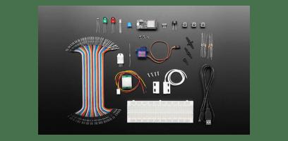 Foto do starter kit com Mongoose OS