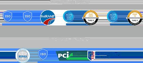 安全認證與資料使用和保護徽章