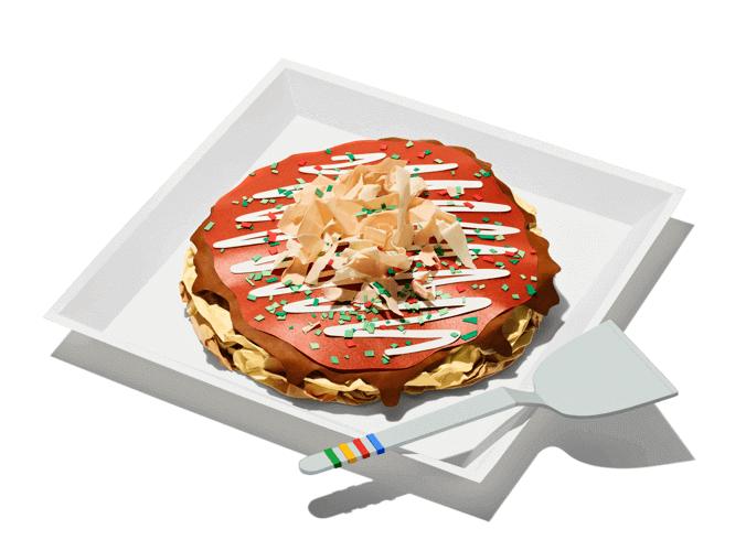 Okonomiyaki-Gericht