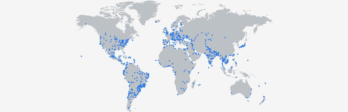 Cloud Media Edge を示した地図