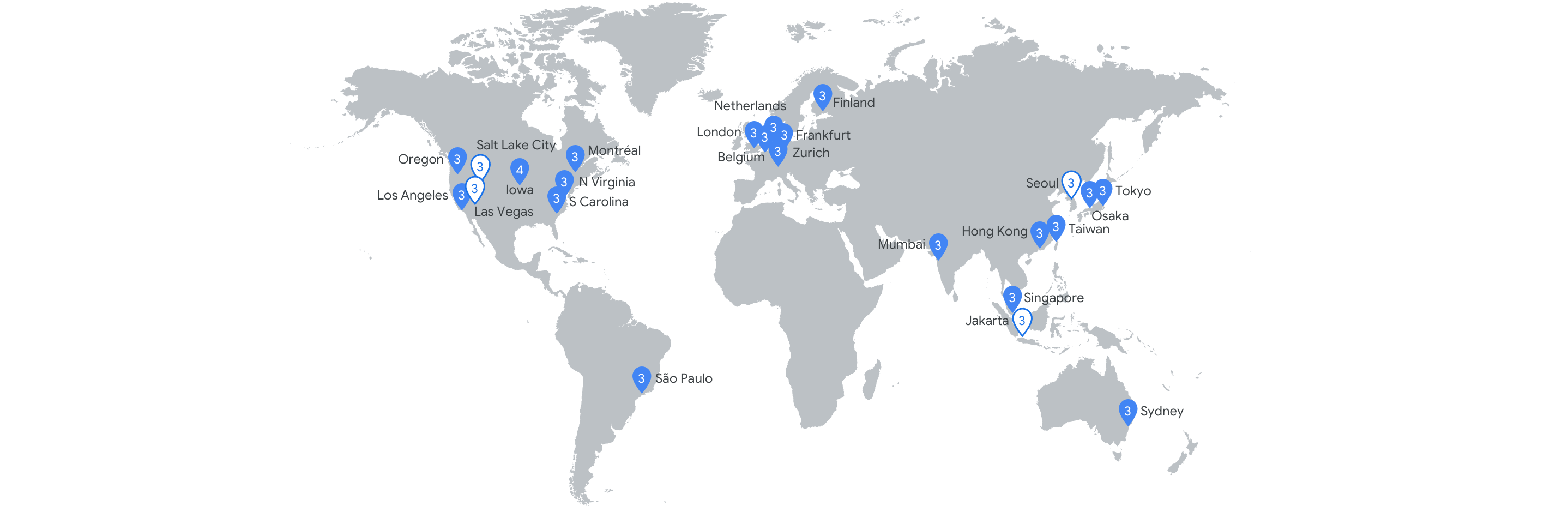 Google Cloud Compute Platform regions