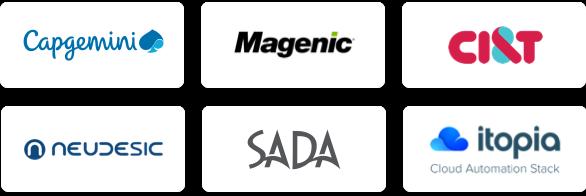 Logotipos dos parceiros do GCP