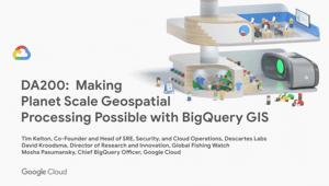 Tornando possível o processamento geoespacial em escala planetária com o BigQuery GIS