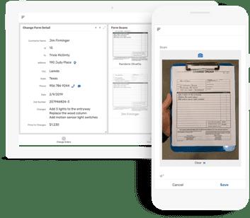 Interfaz de la aplicación Appsheet