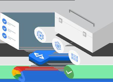 Bild: Tools und Bibliotheken für die Interaktion mit Produkten und Diensten von Google Cloud