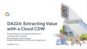 Extracting Value with a Cloud CDW