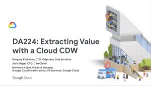 Cloud CDW를 사용한 값 추출