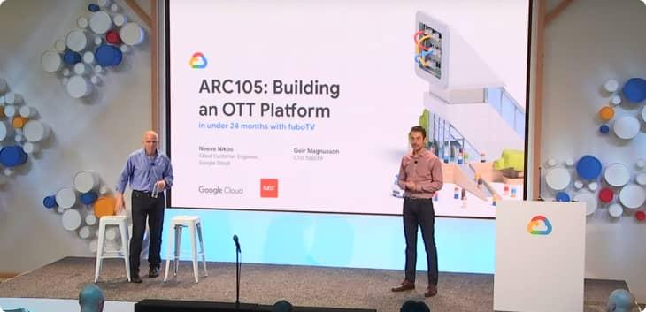 fuboTV がどのように Google Cloud を使用して 24 か月以内に OTT プラットフォームを立ち上げたかの動画を観る