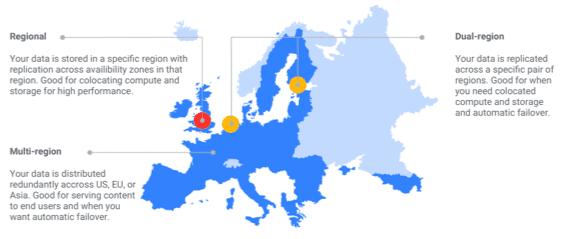 Carte illustrant les emplacements