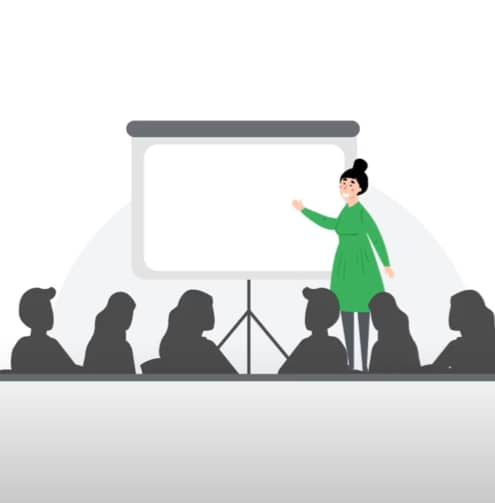 Training in a virtual classroom