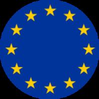Badge met Europese vlag