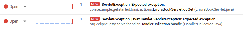 Error Reporting 中的错误消息。