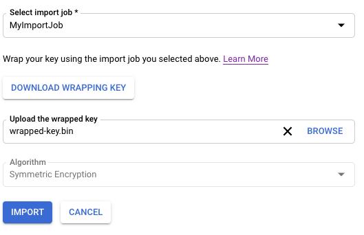 Import key version
